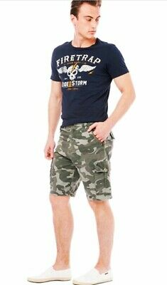 Mens Army Casual Work Cargo Combat Camouflage Shorts Cotton Chino Half Pant • 11.95£