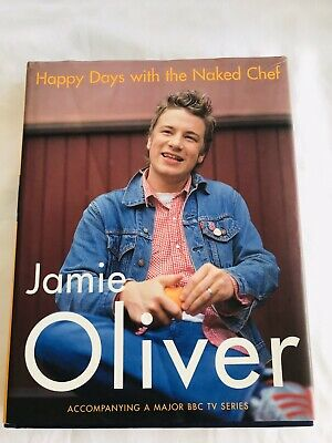 AU22.99 • Buy JAMIE OLIVER Happy Days With The Naked Chef (Hardcover) Recipe Book