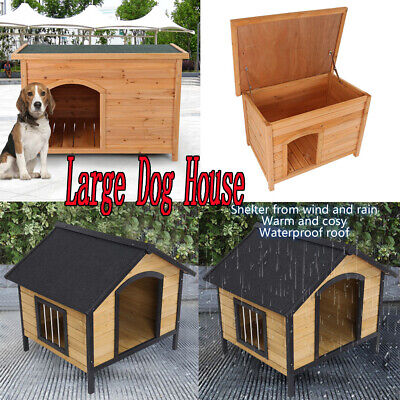 $141.69 • Buy Waterproof Large Pet Dog House Bed Wood Shelter Home Weather Winter Kennel