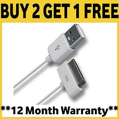 £1.99 • Buy Genuine Charging Cable Charger Lead For Apple IPhone 4,4S,3GS,iPod,iPad2&1