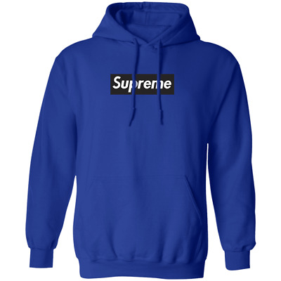 $59.99 • Buy Supreme Black Box Logo Hoodie Medium Blue