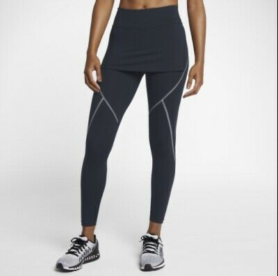 "NIKE NAVY BLUE POWER 28"" DRI FIT SKIRT FRONT SMALL LEGGINGS RRP £75 Free Postage • 29.99£"