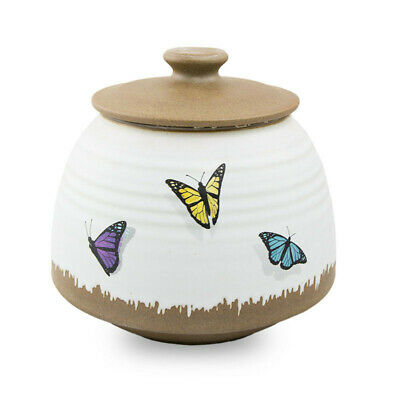 $49.95 • Buy Butterflies Ceramic Cremation Urn For Ashes - Medium  White