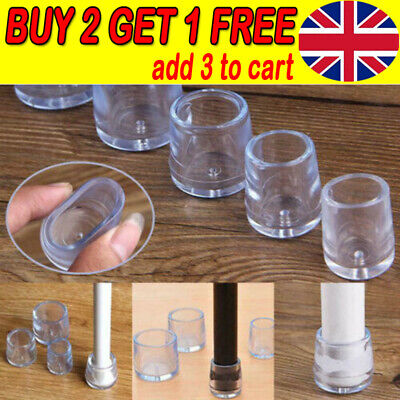 10pc Silicone Rubber Chair Leg Caps Feet Pads Furniture Covers Floor Protector E • 2.99£