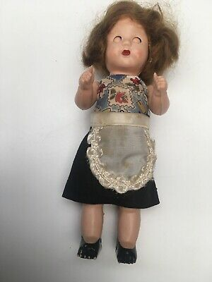 Vintage Small Roddy Doll. Mohair & Old Clothes • 10.10£