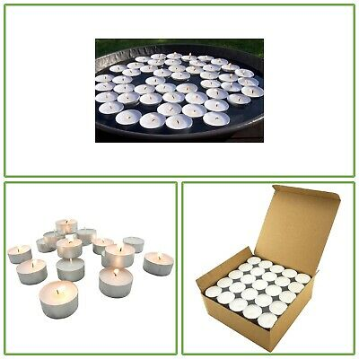 100 Pk White Tea Light Candle 7 Hour Long Burning Floating Centerpiece Unscented • 19.10£