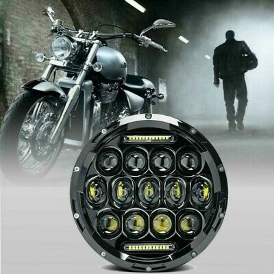 AU42.80 • Buy New 7  Inch Motorcycle Headlight Round CREE LED Projector For Harley Cafe Racer