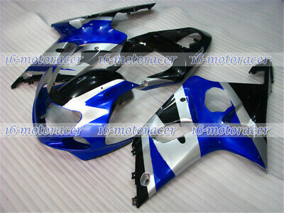$442.26 • Buy Fairing Black Silver Blue Injection Plastic Fit For GSX-R 1000 2000-2002 K2 Q#07