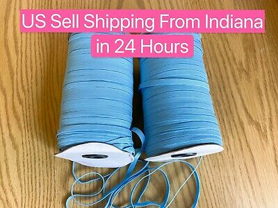 $ CDN13.29 • Buy 10 Yards 1/4 Inch (6mm) Baby Blue Elastic Band Trim Braided Cord