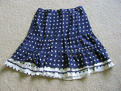 Women's Size 8 • Navy Blue & White Polka Dot Skirt Perfect For 4th Of July! • 17.20£