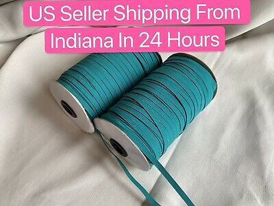 $ CDN13.29 • Buy 10 Yards 1/4 Inch (6 Mm) Teal Elastic Band Trim High Quality