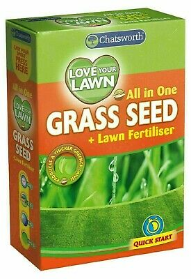 £7.99 • Buy All In One Love Your Lawn Quick Start Garden Grass Seed Quick Growth Fertilizer
