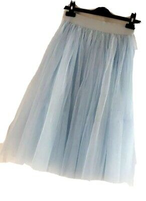 Cute Floaty Ladies Skirt Size Small S Blue Net Lucy Wang • 7£