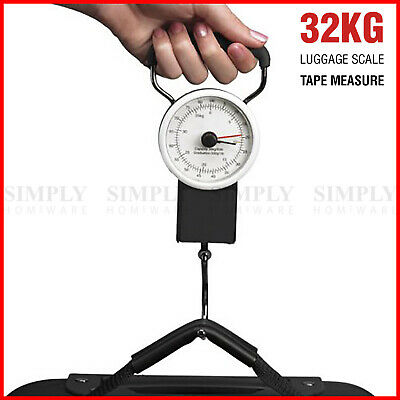 AU15.90 • Buy Portable Mechanical Luggage Scale Fishing Travel Bag Baggage Weighing Weight Kg