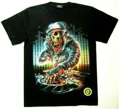 DJ Skull/Skeleton/Headphone/Music/Hip Hop/Disco/Party/Dance/Gothic Men T-Shirt • 13.99£