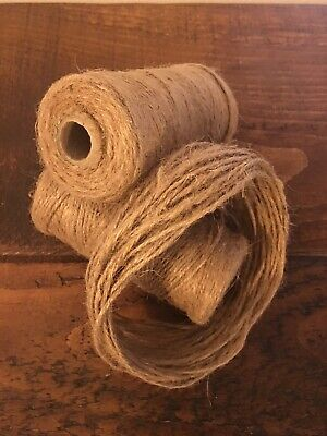 10M Natural Rustic Jute Twine 3 Ply Brown Craft Christmas String Hessian Cord • 0.99£