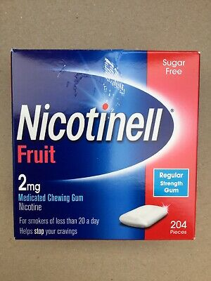$ CDN45.16 • Buy Nicotinell Fruit 2mg - 204 Gums Nicotine Chewing Gum - Expiry 08/2021