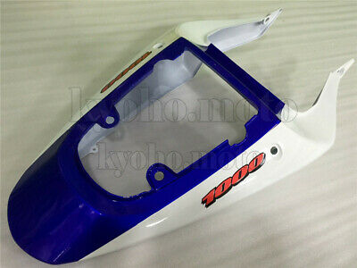 $155 • Buy Blue White Injection Rear Tail Cowl Fairing Fit For 2000-2002 SUZUKI GSX-R 1000