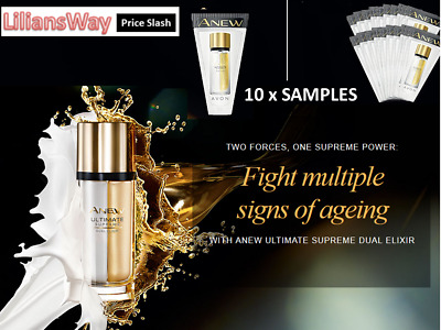 10x AVON Anew Ultimate Supreme Dual Elixir Sample~Fight Multiple Signs Of Aging • 7.75£