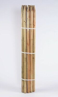 TREE STAKE 5 OF 1.65m X 60mm MACHINE ROUND POINTED GARDEN TIMBER FENCE POST • 40.95£