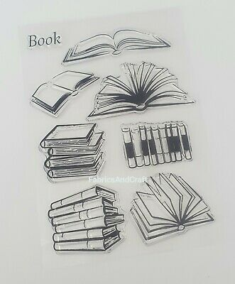 8 Books Clear Stamps/stamp-book Stack/pile-transparent Silicone-scrapbooking • 5.25£