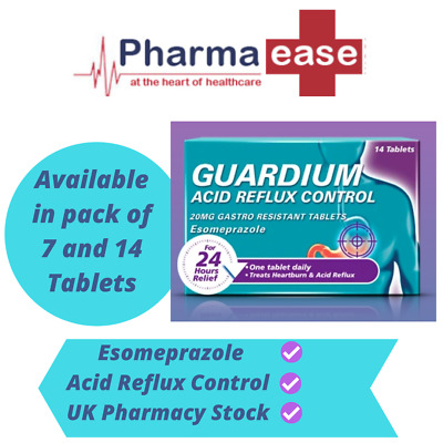 GUARDIUM ( From Gaviscon ) Acid Reflux 24 Hours Relief Tablets 7 Or 14 • 6.80£