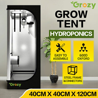 AU69.95 • Buy GROZY 40x40x120cm Grow Tent Hydroponics Mylar High Reflective Indoor Grow Room