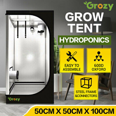 AU89 • Buy GROZY 50x50x100cm Grow Tent Hydroponics Reflective Indoor Plant Seedling Room AU
