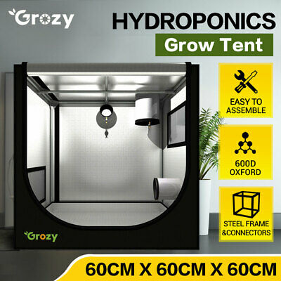 AU62.95 • Buy GROZY 60x60x60cm Grow Tent Hydroponics Plants Cloning Propagation Seedling Room