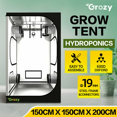 AU219 • Buy GROZY Grow Tent Kits 150 X 150 X 200cm Hydroponics Indoor Plants Growing System