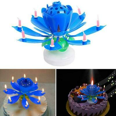 $ CDN4.57 • Buy ROTATING Lotus Candle Birthday Flower Musical Floral &Music Magic Candles E8G1