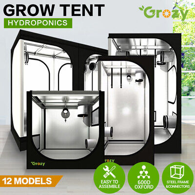 AU99 • Buy GROZY Hydroponics LED Grow Light Tent Mylar Room For Ventilation Kit Grow System