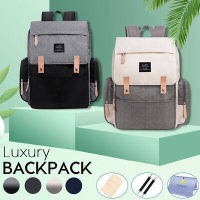 AU36.59 • Buy GENUINE LAND Multifunctional Baby Diaper Backpack Changing Bag Nappy Mummy