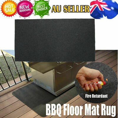 AU15.61 • Buy Fireproof Heat Resistant BBQ Gas Grill Splatter Mat Backyard Floor Protective AU