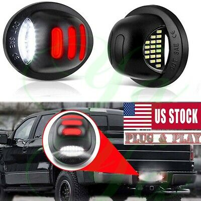 $14.49 • Buy RED Neon Tube LED License Plate Tag Light Lamp For Ford 1999-2016 F150 F250 F350