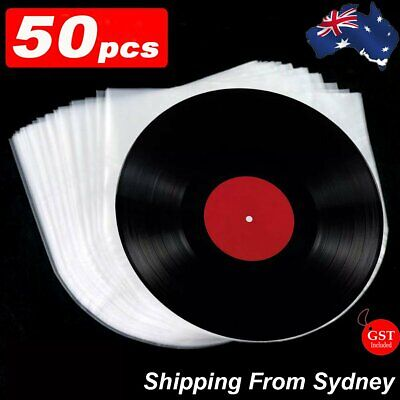 AU14.99 • Buy 50pcs Sleeves Inner LP Music Durable For 12  Vinyl Record Plastic Record Cover