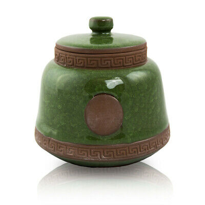 $29.95 • Buy Ceramic Cremation Urn For Ashes - Small  Green