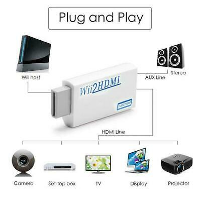 Wii Input To HDMI 1080P HD Audio Output Converter Adapter Cable 3.5mm Jack Lead • 4.95£