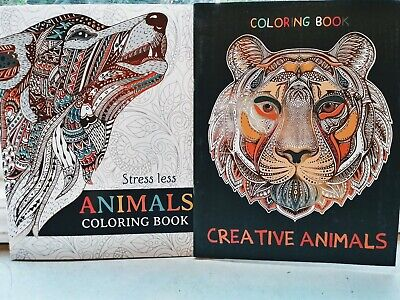 $7.99 • Buy 2 New Adult Coloring Books Animals Beautiful Books Lot Of 2