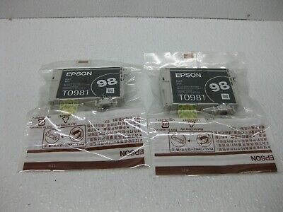 $39.95 • Buy Epson 98 Black Ink T0981 Genuine T098120 *** SHIPS OVERBOXED *** LOT OF 2 ***