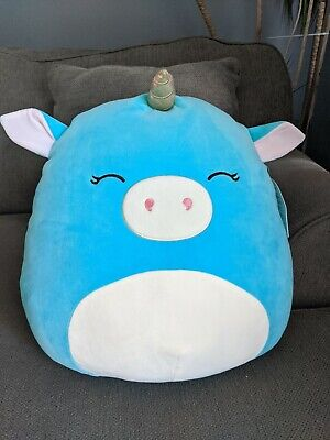 $ CDN55 • Buy Squishmallows 16  Inch Ella Gold Teal Unicorn Canadian Exclusive Squishmallow