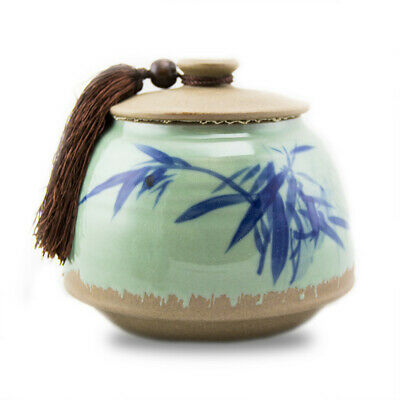 $49.95 • Buy Bamboo Branches Ceramic Cremation Urn For Ashes - Medium  White