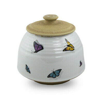 $64.95 • Buy Butterflies Ceramic Cremation Urn For Ashes - Large  White