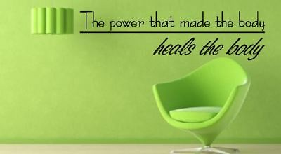 £15 • Buy The Power That Made The Body Heals The Body Lounge Vinyl Wall Art Decal Sticker