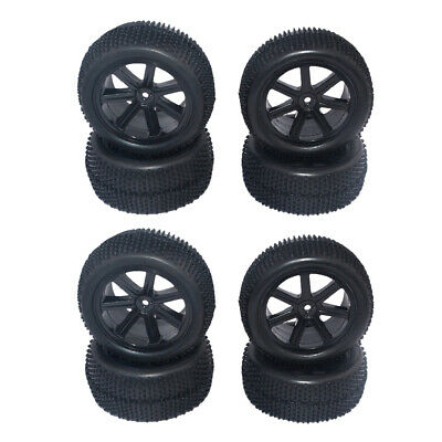 8Pcs 1/10 Scale  RC Buggy Wheels Rims And Tires For HSP HPI Racing Cars • 20.41£
