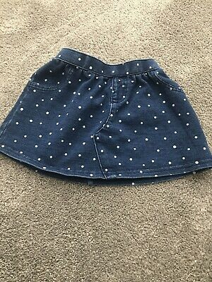 Gorgeous Next Girls Spotty Polka Dot Mini Skirt 6-9 Months. Great Condition • 5£