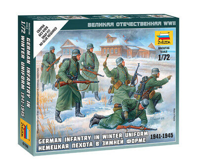 Zvezda 1/72 Figures - German Infantry In Winter Uniform 1941 - 1945 Z6198 • 4.95£