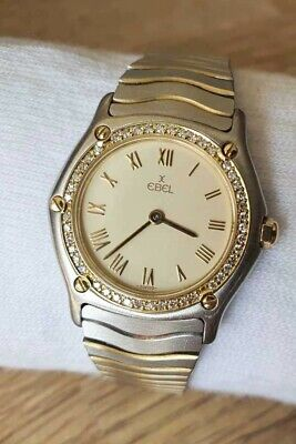 Ebel Classic Wave Ladies Watch 181930X With Diamond Bezel And Roman Numerals • 950£