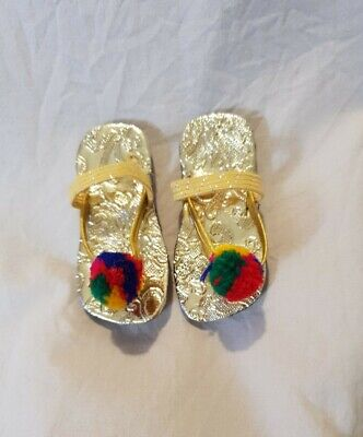 £8 • Buy Baby Sandal Shoes Golden Pakistani/Indian Occasion Wear 0-3 Months