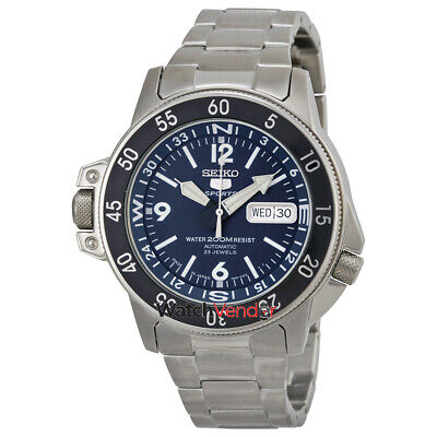 $ CDN379.99 • Buy Seiko 5 Automatic Compass Dark Blue Dial Stainless Steel Mens Watch SKZ209J1